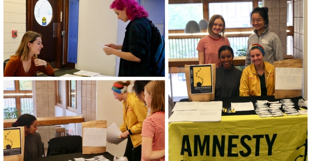 AmnesTEA & Write for Rights by Leah Yohannes (A'21)