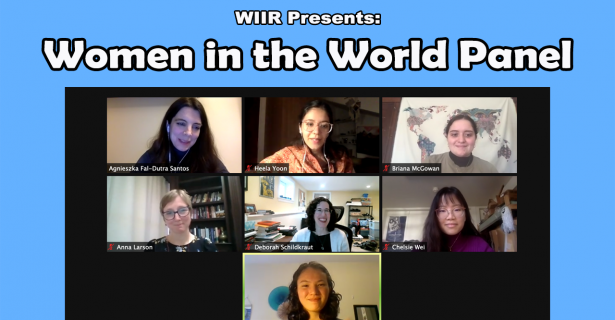 Women in the World Panel by Emma Christman (A'23) and Emily Witherell (A'23)