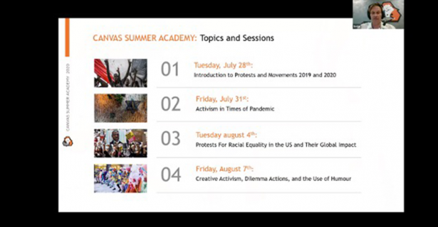 The CANVAS Summer Academy by Colin Kennedy (A'21)